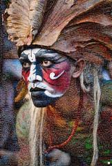 Amazonas Mosaico (by zurera) Tags: digital hd art collage retratos portraid zurera people fotomontaje image autoretratos mosaic