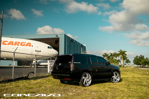 """Cadillac Escalade on 5D Brushed Silver • <a style=""""font-size:0.8em;"""" href=""""http://www.flickr.com/photos/77888731@N08/35856528661/"""" target=""""_blank"""">View on Flickr</a>"""