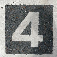 number 4 (Leo Reynolds) Tags: xleol30x 4 four onedigit number xsquarex panasonic lumix fz1000 grouponedigit
