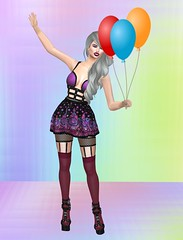 Snatch 10 (Treycee Melody) Tags: sntch birthday celebrate top stockings garter new secondlife womens