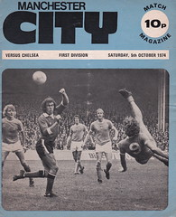 Manchester City vs Chelsea - 1974 - Cover Page (The Sky Strikers) Tags: manchester city chelsea maine road football league first division match magazine 10p