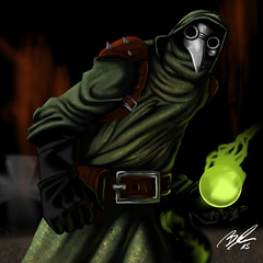 Plaque (Dreamofdesign) Tags: evil smoke death witch craft digital plaguedoctor plague darkest dungeon