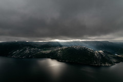 Norway (Zanthia) Tags: norway scandinavia autumn badweather cloud coast fjord landscape lightray lookout nature north scenic storm water weather
