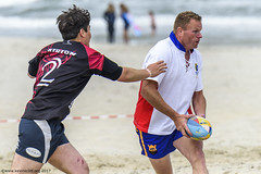 H6G64103 Ameland Invites v Baba Bandits (KevinScott.Org) Tags: kevinscottorg kevinscott rugby rc rfc beachrugby ameland abrf17 2017 vets veterans netherlands