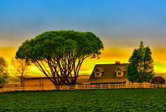 A GENTLE  KISS GOOD NIGHT ... (Aspenbreeze) Tags: sunset twilight sundown evening sky night farm rural country landscaape coloradolandscape nature bevzuerlein aspenbreeze moonandbackphotography