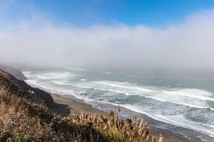 Wall of Fog (Estoy Viajando) Tags: california usa beach ocean fortbragg mist fog pacific waves