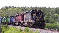 907 crossing Grenville Rd, Saint John (MaineTrainChaser) Tags: 72017 nbsr nb trains train 907 west westbound mcadam subdivision