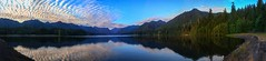 Lake Wynoochee in Olympic National Forest (Matt Straite Photography) Tags: lake river forest sky clouds sunset tree trees reflection washington olympic national panorama dam