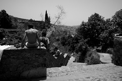the bath (pepe amestoy) Tags: blackandwhite streetphotography people chefchaouen morocco fujifilm xe1 voigtländer color skopar 421 vm m mount