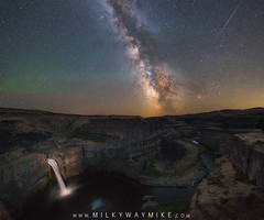 Palouse Falls (Mike Ver Sprill - Milky Way Mike) Tags: palouse falls milky way galaxy astrophotography astronomy long exposure waterfall water fall washington state park camping stars star universe cosmos panorama meteor airglow aurora canyon valley erosion desert landscape nightscape nature nightscaper nightsky darkskies milkywaymike mikeversprill versprill michael