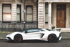 White SV (Beyond Speed) Tags: lamborghini aventador sv superveloce supercar supercars car cars carspotting nikon v12 roadster spoiler carbon london mayfair automotive automobili auto