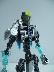 TYPHOON GALI (Toxic Geek) Tags: bionicle moc ccbs lego toa water gali typhoon axe trident hook chain blue azure figure redesign