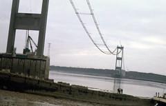 Severn Bridge (M48) under construction (foundin_a_attic) Tags: severn bridge m48 under construction constructed by john howard co sir william arrol cleveland engineering company dorman long opened 8 september 1966 suspension aerial