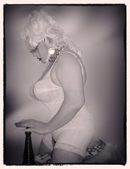 SHAPER-DOLL01 (bigbertha666) Tags: doll mask corset fetish sissy maskedface blackwhite colored fetishfashion bodyjewellery bondage venetianmask ballgown glasses cateye