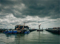 [][][][][][]___\____/__ (Kevin HARWIN) Tags: greta barge boat sail water sea wet waves reflection fishing fish beach sand building crane whitstable bubble south east kent england britain canon eos 70d 1755mm lens