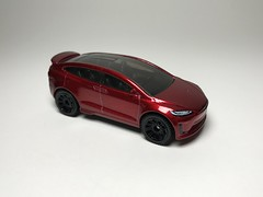 Tesla Model X (king_joe007) Tags: 164 diecast hotwheels tesla model x custom wheelswap matchbox wheels