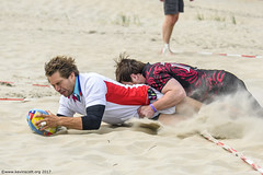 H6G64090 Ameland Invites v Baba Bandits (KevinScott.Org) Tags: kevinscottorg kevinscott rugby rc rfc beachrugby ameland abrf17 2017 vets veterans netherlands
