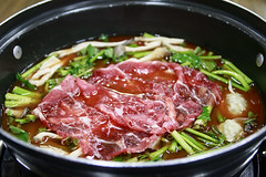 Shabu-Shabu Stew (Johnnie Shene Photography(Thanks, 2Million+ Views)) Tags: shabushabu beef slice slicebeef slicemeat boiling boil stew highangle manmade meat soup calguksu kalguksu kalgooksoo calgooksoo pot cookpot heat preparing water photography horizontal indoor colourimage fragility freshness nopeople foregroundfocus adjustment interesting awe wonder meal food foods meals pepper hotpepper hotsauce cook cooking eating tranquility restaurant delicious palatable taste korea asia preference canon eos80d 80d sigma 1770mm f284 dc macro lens 샤브샤브 칼국수 소고기 쇠고기 냄비 koreanfood asianfood cuisine