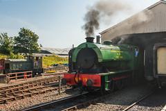 Bo'ness & Kinneil Railway - NCB (060ST) Engine No 9 Emerging (Le Monde1) Tags: boness kinneil lemonde1 nikon d800e museum heritage uk bonesskinneilrailway museumofscottishrailways ncb 060st engine locomotive no9 scotland steam railway