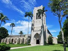 Church of Bethesda-By-The Sea (Helenɑ) Tags: historic palmbeach florida unitedstates palmtrees churchofbethesdabythesea gothicrevival church architecture