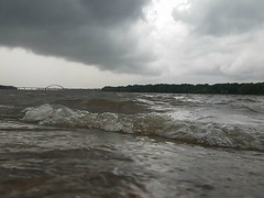 angry clouds (David Sebben) Tags: thunderstorm weather mississippi river quadcities clouds waves wind rain angry