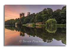 Cathedral Reflections (Steven Peachey) Tags: durhamcathedral durhamcity reflections water river leefilters lee09gnd ef1740mmf4l canon6d stevenpeachey lightroom dusk landscape sunset sky clouds canon riverwear uk northeastengland countydurham