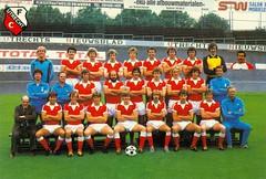 FC Utrecht (1980 - 1981) (poedievanlaar) Tags: fc utrecht utreg stadium stadion galgenwaard 1980 1981 voetbal football eredivisie netherlands dutch holland elftal selectie hans van breukelen jan de akker henk der vlag gerard tervoort ben rietveld ton kruijk kruyk lem wim willem hanegem stroomberg trainer han berger vezorger martin okhuijsen okhuysen joop wildbret john veenendaal peter eikelboom koos tamelen willy carbo du chatinier verkaik clubarts bram querido gert kruys flight frans adelaar wouters staa norbart gruters wijnand nietveld leo veen assistenttrainer materiaalbeheerder