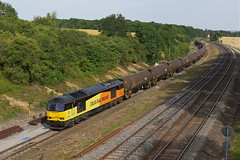 60096 Souldrop (Gridboy56) Tags: class60 tug england europe uk bedfordshire souldrop lindsey colnbrook tanks freightliner railways railroad railfreight trains train locomotive locomotives 6e38 60096