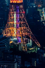 Close up (mathieuo1) Tags: japan tokyo mori tokyotower close zoom nikon steel legs night nightscape nightshoot light illumination metal architecture design symbol town city capital up details strengh building explore discover asia busy urban street streetphotography orange blue mathieuo style landscape