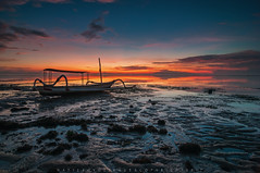 Karang Beach , Sanur (Hafiz.Soyuz.Photography™) Tags: jukong boat fisherman bali indonesia sanur karang beach sunrise morning shore sea ocean low tide