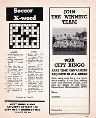 Manchester City vs Chelsea - 1974 - Page 9 (The Sky Strikers) Tags: manchester city chelsea maine road football league first division match magazine 10p