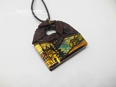 Polymer Clay Pendant A Quiet Country Cabin by LynzCraftz (LynzCraftz) Tags: polymerclay pendant jewelry necklace oneofakind handmade art resin