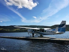 "Loch Lomond Sea Planes picking up passengers from Loch Venachar. ""Lochside,"" Loch Venachar. July 2017. (Jen_wilsonphotography) Tags: cessna cessnacaravan iphone lochlomondseaplanes seaplane aviation summer scotland trossachs lochvenachar"