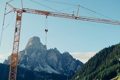 Framed (No_Mosquito) Tags: corvara sassongher south tyrol alps europe mountains evening light crane view landscape framed dolomites