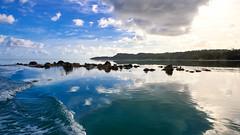 The passage (geemuses) Tags: fishing yellowfintuna tuna fish sun sunrise reflection glow island aitutaki lagoon aitutakilagoon sea ocea water scenic landscape view filleting reef rocks