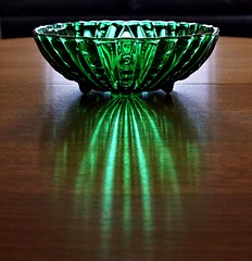 Depression Glass Bowl c. 1930's (8harpem) Tags: glass bowl light green selp1650 a6300