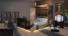 Zephyr Gold (Akaesha Revnik) Tags: second life secondlife akaesha react animated furniture animations couple bed bath sofa set