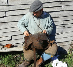 Keeping rust off his armor (emmaellathomas) Tags: plimouthplanation plymouthma reenactor armor