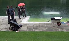 STAND QUIET AND LOOK AT THE SUNKEN CARAVAN (LitterART) Tags: erwinwurm lkw wohnwagen sunken caravan biennale venedig venice art arte kunst österreich beitrag scheibtruhe davidmoises schmwimmbad hommage fürstenfeld pool swimmingpool rainy rain