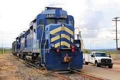 San Pedro Goes South (BravoDelta1999) Tags: sanpedroandsouthwestern spsr southernpacific sp railroad railway benson arizona emd gp30u 2408 2426 manifest train