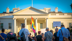 2017.07.26 Protest Trans Military Ban, White House, Washington DC USA 7636