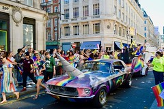(Giramund) Tags: londonpride lgbt celebration colourful rainbow unicorn car loveislove equality