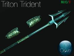 *The Cove* Triton Trident Set (Kol Tchailenov (*The Cove*)) Tags: cove bracers bracer trident triton merman weapon sl