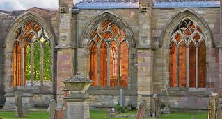 Melrose Abbey Aglow
