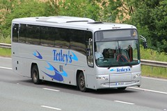 Tetley's P11 TET 21st July 2017 (asdofdsa) Tags: buses coaches transport travel holiday dayout daytrip motorway m62 goole westbound