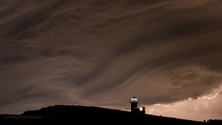 Swirling storm clouds over Belle Tout - Beachy Head, Eastbourne