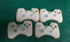 xbox controlers (GRAMPASSTORE) Tags: mygrampasstoregrandpagrandpaslagrangelagrangeil60525customunique xbox controler cookie favors cookies games video board 60525 birthday cake theme minecraft