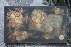 Nature morte (Gerard Hermand) Tags: 1706048631 gerardhermand france paris canon eos5dmarkii formatpaysage cimetière cemetary pèrelachaise tombe grave fleur flower inclusion livre book
