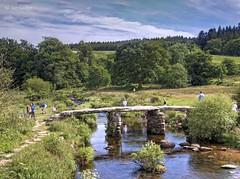 Too many people (Ian Gedge) Tags: england uk britain devon water clapper bridge postbridge dartmoor people dart river