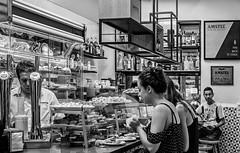 La Boatella Tapas Bar -Valencia (Spain) (BW) (Olympus OM-D EM1-II & Panasonic Lumix 20mm f1.7 Pancake Prime) (markdbaynham) Tags: valencia spain people tapas valencian city urban metropolis food comida interior la boatella laboatella candid oly olympus omd em1 em1ii em1mk2 csc mirrorless evil mft m43 m43rd micro43 micro43rd panasonic lumix lumixer 20mm f17 pancake prime espana espanol vlc valenciacanibal